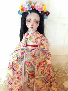 "OOAK Monster high Doll repainted by ""the cat's tea"" ok usually these r good, but, wtf? Is it the lighting? Terrible"