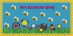 This would make a great bulletin board decoration for spring or summer with the fun bee and flower theme! http://www.mpmschoolsupplies.com/ideas/4754/were-buzzing-into-spring-bulletin-board-idea/