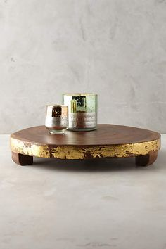 Gilded Timber Display Tray - anthropologie.com