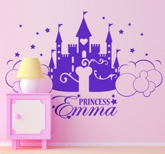 Beautiful wall sticker for decorate the room of your baby girl! #babygirl! #decoration #wallsticker #babygirl