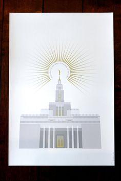 Draper, Utah LDS Temple 13x19 print by Fine Fettle Studio  We love Temples at: www.MormonFavorites.com