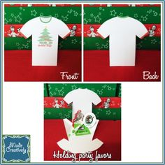 Hand out these adorable shirt-shaped favor boxes at your Operation Christmas Child shoebox packing party or to the volunteers who help you during National Collection Week at church!