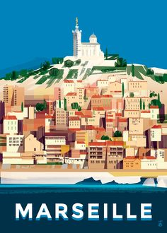 Discover recipes, home ideas, style inspiration and other ideas to try. Travel Illustration, Vintage Travel Posters, France Travel, Romantic Travel, Travel Destinations, Surfing, Around The Worlds, Provence, Pictures