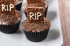 A simple way to give your chocolate cupcakes some Halloween flair.