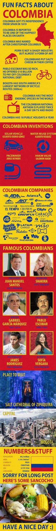 Best #facts about #Colombia #funfacts