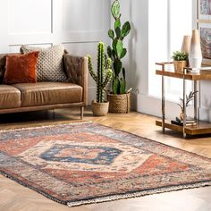 Botaniq Clover Medallion Tassel Multi Rug Rugs Usa, Home Accents, Home Projects, Building A House, Tassels, Family Room, Area Rugs, New Homes, Furniture