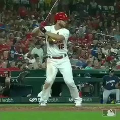 Notice the front side here at contact! Having a firm front side allows the hitter to turn the barrel, stay behind the ball, and create maximum extension. Big time power here from 🔥👀  Baseball Videos, Baseball Tips, St Louis Cardinals Baseball, Train System, Big Time, Baseball Players, Drills, Softball, Barrel