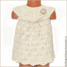 Купить Платье, панамка, туфельки и повязочка для девочки - бежевый, однотонный, детская одежда, вязаная одежда