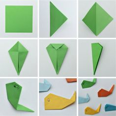 Easy Origami Whales for Kids | Rusty and Rosy