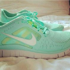Teal nike workout sneakers