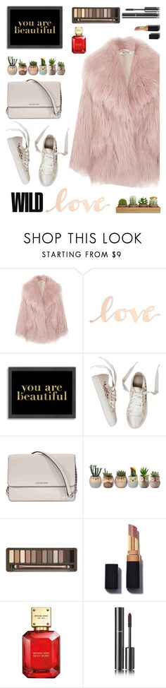 """Faux Fur You Are Beautiful"" by maureenbude on Polyvore featuring Miu Miu, Primitives By Kathy, Americanflat, Michael Kors, Urban Decay and Chanel"