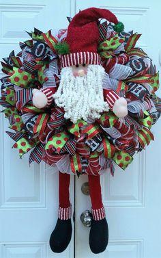 Large Christmas Wreath  Whimsical Christmas Wreath  Deco