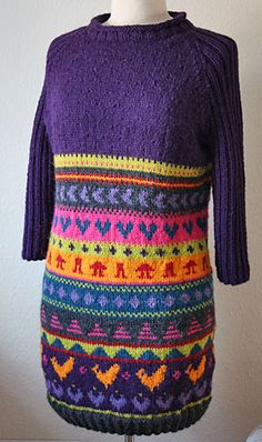 Palett-paleteau: Hønsestrik! Knitting Designs, Knit Dress, Crafty, Hippie Crochet, How To Make, Pattern, Sweaters, Inspiration, Clothes