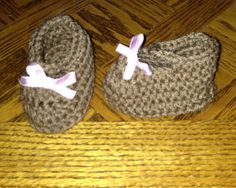 Brown booties! Check out LDJ Crochet on Facebook!