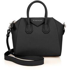 Givenchy Antigona Mini Leather Satchel (€1.580) ❤ liked on Polyvore featuring bags, handbags, apparel & accessories, real leather purses, givenchy handbags, mini satchel handbags, leather purse and satchel purse