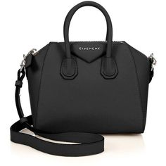 Givenchy Antigona Mini Leather Satchel (£1,125) ❤ liked on Polyvore featuring bags, handbags, bolsas, apparel & accessories, mini satchel handbags, satchels, leather handbags, givenchy handbags and leather purse
