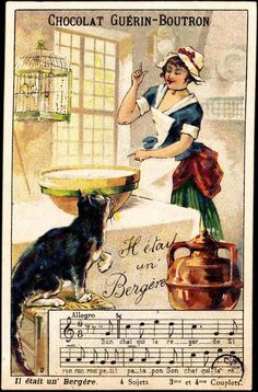 Vintage French chocolate advertising card