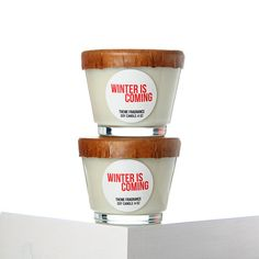 Christmas candle - Winter is Coming soy wax candle. Cool Peppermint and Eucalyptus. For fans of Game of Thrones.