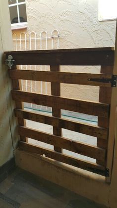 Gate made from pallets