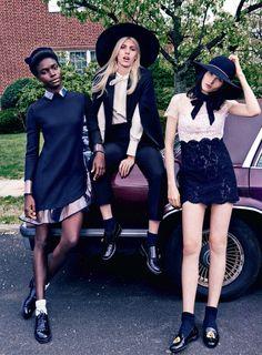 Publication: Vogue Turkey July 2014 Model: Jeneil Williams, Katlin Aas, Devon Windsor Photographer: Jem Mitchell Fashion Editor: Konca Aykan Make-up: Asami Taguchi