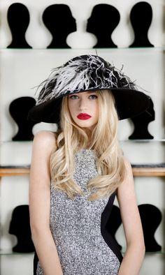 Image result for women wide brim hats ostrich