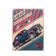 Placa Madeira Carro Vintage - Machine Cult | A loja das camisetas de carro e moto