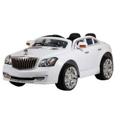 - Riding in luxury like mom and dad! This 2 seat luxury car comes equipped with all the bells and whistles. - Two Seat Ride On Car - Steering Wheel has horn, music and MP3 Aux. - Lots of Lights and Su