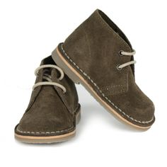 Kids by MOTT Mini Suede Desert Boot, Khaki :: Bohemia