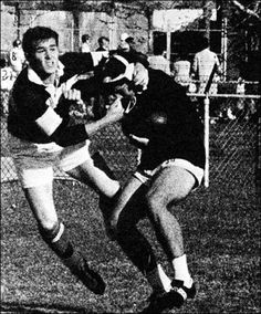 George W. Bush plays a little dirty rugby for Yale in 1966.  George W. Bush playing dirty? Certainly that's the only time that's ever happened...