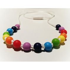 Silicone Rainbow chew teething necklace