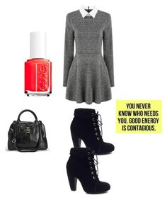 """Fall Vibes"" by fredericaehimen ❤ liked on Polyvore featuring Essie, Bamboo and Avenue"