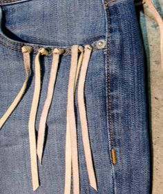 #Denim #Detail #Fringe