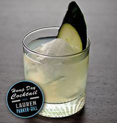 Cucumber Basil Gimlet - fresh basil leaves fresh cucumber, vodka, lemonade, lime juice
