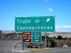 Truth or Consequences, New Mexico - originally named Hot Springs for the 40 hot spring spas in the area. The city changed its name to Truth or Consequences, the title of a popular NBC radio program when in 1950, Ralph Edwards, the host of the radio quiz show Truth or Consequences, announced he would air the program from the first town that renamed itself after the show. Hot Springs won the honor.