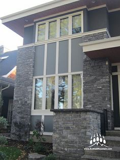 Thunderstone Quarries Black Rundle Natural Stone from Kodiak Mountain Stone. www.KodiakMountain.com Natural Stones, Mountain, Windows, Nature, Black, Black People, The Great Outdoors, Window, Mother Nature