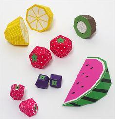 kerajinan gunting tempel anak SD, membuat sendiri buah-buahan lucu dari kertas, full color