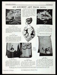 Arts & Crafts Batik Art Island of Java 1928 Textiles Catalog AD Graphic Design