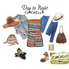Day to Night: Coachella, created by mariana1996 on Polyvore