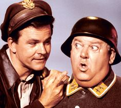 "Hogan's Heroes ...""I know nothing."" This was one of my mom's favorites.  I did not mind watching this one."