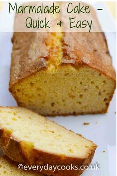 Plain but fruity,Marmalade Loaf Cake is tasty with tea or coffee. Plain Cake, Zucchini Cake, Pound Cake Recipes, Fruit Cake Recipes, Pound Cakes, Dessert Recipes, Salty Cake, Loaf Cake, Savoury Cake