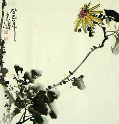 Chinese Chrysanthemum Painting,50cm x 50cm,2579001-x