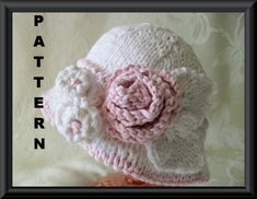 Knitting Pattern for Baby Hat-Children Clothing-Knitted Baby Bonnet Pattern-Hand Knitted BABY HAT PATTERN-a Hint of Pink