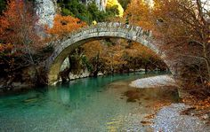 Kleidonia bridge by Hercules Milas - Greece Old Bridges, Greece Holiday, Water Droplets, Albania, Crete, Wonderful Places, Macedonia, Slovenia, Surfing