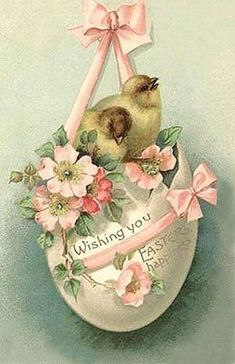 Free freebie printable vintage easter postcard egg, chicks Source by catherinelipper Easter Greeting Cards, Vintage Greeting Cards, Vintage Postcards, Easter Art, Easter Crafts, Easter Wishes, Easter Pictures, Diy Ostern, Easter Printables