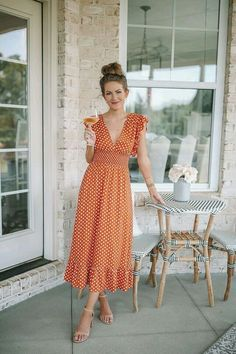 Date night - southern curls & pearls cute casual outfits in Red Polka Dot Dress, Polka Dot Maxi Dresses, Polka Dots, Date Night Dresses, Night Outfits, Summer Dresses, Dress Night, Cute Casual Outfits, Casual Dresses