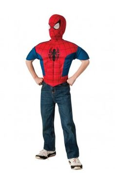 kit disfraz spiderman musculoso para nio