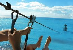 Zip line into the ocean... Where is this wonderful place???