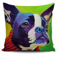 Pillow Cover - Boston Terrier - Ridley