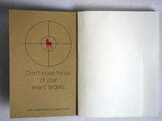 Das ultimative Notizbuch für Event Manager ehältlich unter: www.missioneventmanagement.com
