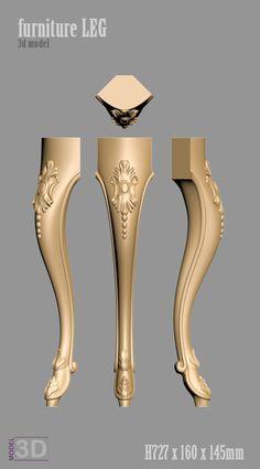 furniture LEG model for cnc router.c Ikom Furniture Legs, Luxury Furniture, Pillar Design, Wooden Sofa Designs, Wood Carving Patterns, House Front Design, L Shaped Sofa, 3d Laser, Classic Interior